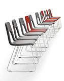Row of chairs Stock Image