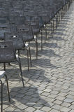 The Row of Chairs. At main square of Vatican After new Papa was chosen Stock Image