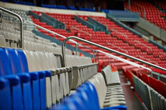 Row of chairs in a stadium Royalty Free Stock Image