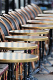 Row of chairs and tables Royalty Free Stock Images