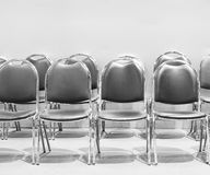 Row of chairs for waiting. Royalty Free Stock Photo