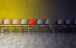 Row of chairs Royalty Free Stock Image