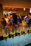 Row of champagne glasses Royalty Free Stock Image