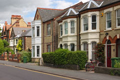 A row of characteristic English cottages Royalty Free Stock Images