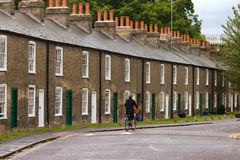 Row of characteristic english houses royalty free stock images