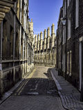 Row of characteristic English houses in Cambridge, UK Royalty Free Stock Photography