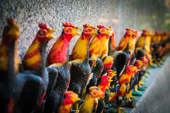 The row of chicken doll, close up Royalty Free Stock Photography