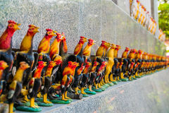 The row of chicken doll Royalty Free Stock Images