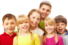 Row of children Royalty Free Stock Image