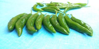 Fresh chillies Royalty Free Stock Images