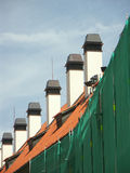 Row of chimneys Royalty Free Stock Photos