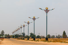 Row of Chinese style electricity post Royalty Free Stock Photography