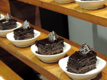 Row of chocolate pastries Royalty Free Stock Image