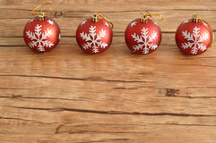 Row of Christmas baubles Royalty Free Stock Photos