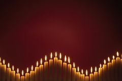 Row Of Christmas Candles Royalty Free Stock Image