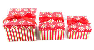 Row with christmas presents Royalty Free Stock Images