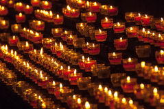 Cathedral Candles Royalty Free Stock Images