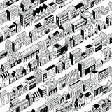 Row City Seamless Pattern Isometric Royalty Free Stock Photography