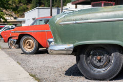 Row of Classic Cars. WALLACE, ID - AUGUST 20: Row of classic cars in Wallace, ID on August 20, 2015 Stock Photos