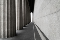 Row of classic columns Stock Images