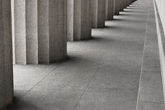 Row of classic columns Royalty Free Stock Images