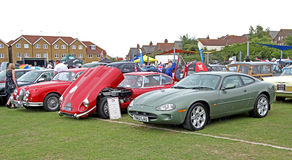 Row of classic jag cars Stock Photos