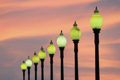 City lamps Royalty Free Stock Photos