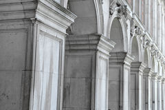 Row of classical columns in a colonnade Royalty Free Stock Images