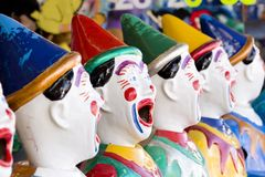 Row of clowns Royalty Free Stock Image