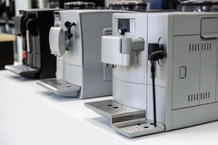 Row of coffee machines Stock Photography