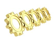 Row of a cogwheel gears Royalty Free Stock Images