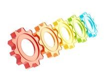 Row of a cogwheel gears Stock Photography