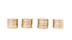 Row of coins Royalty Free Stock Photo