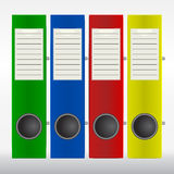 Row of color binders Stock Images