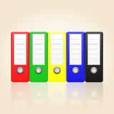 Row of color binders vector Royalty Free Stock Images