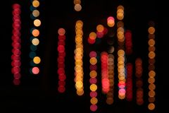 Row of Color Bokeh Stock Photo