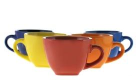 Row color cups Stock Photos