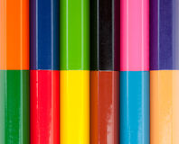 Row of color pencils Stock Photography