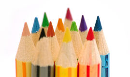 Row of color pencils Royalty Free Stock Photography