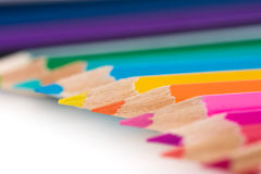 Row of color pencils Royalty Free Stock Photo