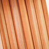 Row of color pencils on white background.Studio Royalty Free Stock Photo