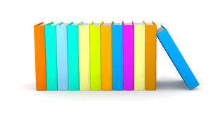 Row of colored Books Stock Photo