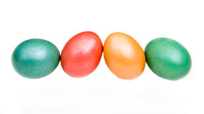 Row of colored eggs Royalty Free Stock Photos