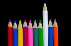 Row of colored pencils Royalty Free Stock Photo