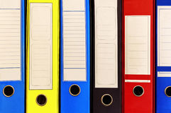 A row of colorful account files in company Royalty Free Stock Photos