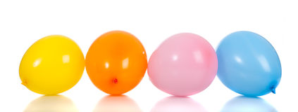 Row of colorful balloons Stock Photos