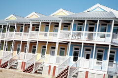 Row of Colorful Beach Houses royalty free stock photo
