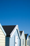 Row of colorful beach huts Stock Photo