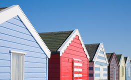 Row of colorful beach huts Royalty Free Stock Image