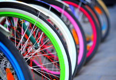 Bike tires detail Royalty Free Stock Photography